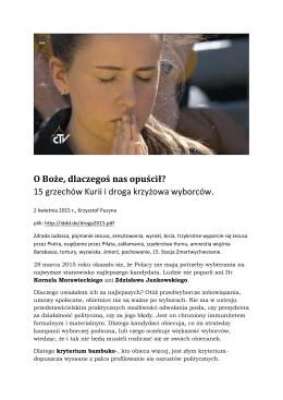 15 grzechów Kurii i droga krzyżowa wyborców.