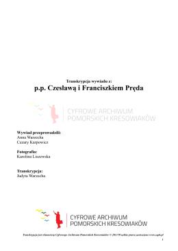 Transkrypcja - Cyfrowe Archiwum Pomorskich Kresowiaków