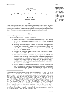 USTAWA z dnia 16 listopada 2000 r. o przeciwdziałaniu praniu