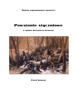 Powstanie styczniowe w gminie Konstancin