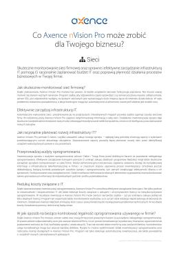Co Axence nVision Pro może zrobić dla Twojego biznesu?