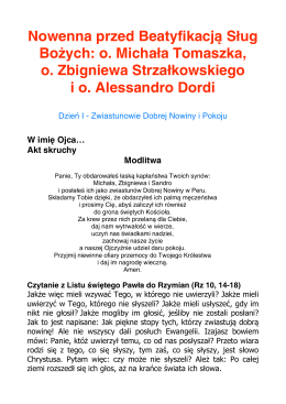 pełny tekst I dnia nowenny w formacie pdf do pobrania