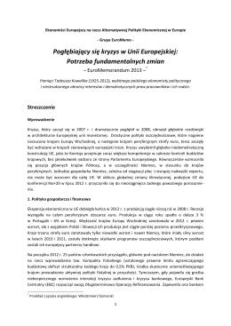 EuroMemorandum 2013 Summary_Polish