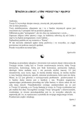 Wrażenia Kobiet, które przeczytały rękopis