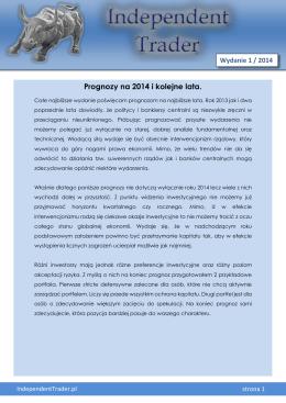 Prognozy na 2014 i kolejne lata.