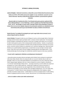 wywiad z janiną ochojską - XV Liceum Ogólnokształcące im
