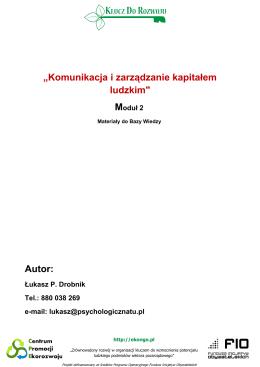 M2 – Komunikacja i zarządzanie kapitałem ludzkim