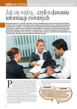 Justyna Kostka: Jak cię widzą... czyli o dawaniu informacji zwrotnych.
