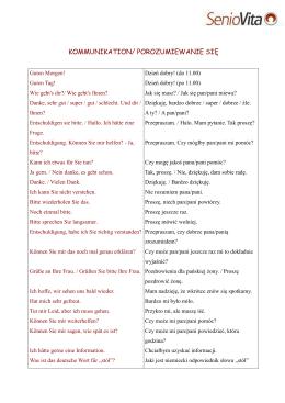 Słownictwo komunikacja / porozumiewanie się