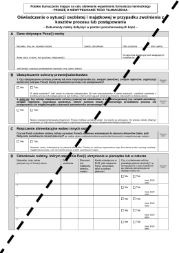 v=3;Legal Aid Application Form (Polish)