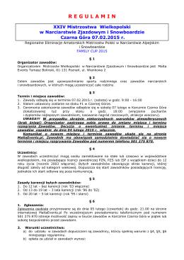 Regulamin - Czarna Góra`15