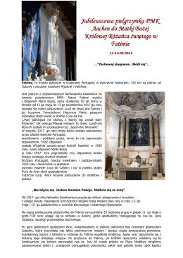 Jubileuszowa pielgrzymka PMK Aachen do Matki Bożej Królowej