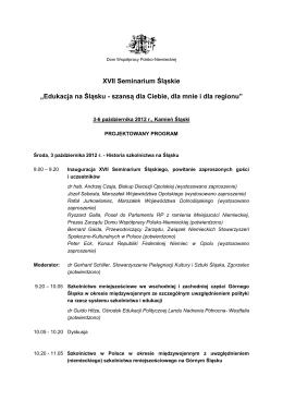Program [.pdf] - Dom Współpracy Polsko