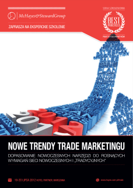 NOWE TRENDY TRADE MARKETINGU