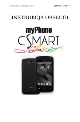 myPhone C-Smart - Instrukcja Obsługi [PL]