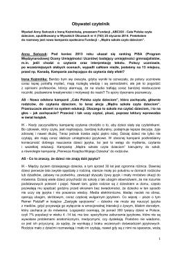 SZTUKĄ JEST ROZUMIEĆ - Cała Polska czyta dzieciom