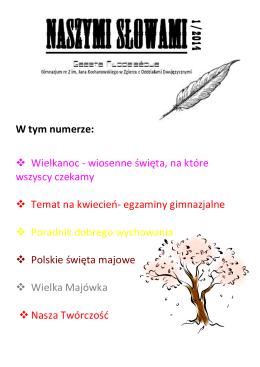 Naszymi słowami – kwiecień 2014