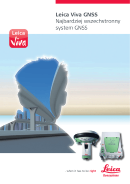 Leica Viva GNSS - Nadowski / Instrumenty Geodezyjne