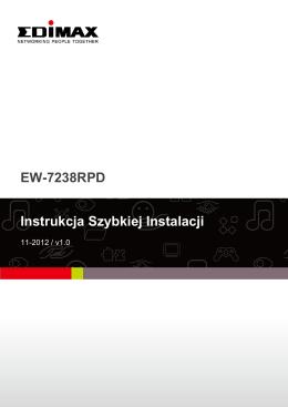 EW-7238RPD Instrukcja Szybkiej Instalacji