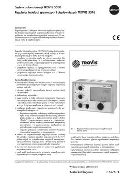 Karta katalogowa T 5576 PL System automatyzacji
