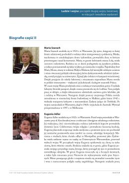 Biogramy autorów relacji (część II)