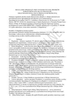 Regulamin sklepu MediaExpert ważny do 19.11.2014