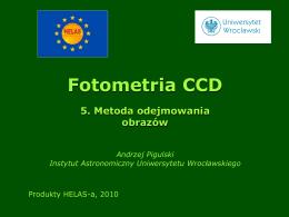 Fotometria CCD 5. Metoda odejmowania obrazów