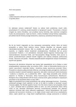 Laudatio, 17.12.2013 (wersja polska)