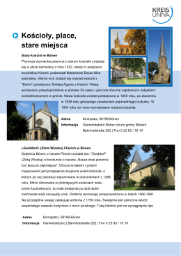 Kościoły, place, stare miejsca