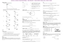 Zbiór zadań przygotowujących do matury podstawowej z fizyki z