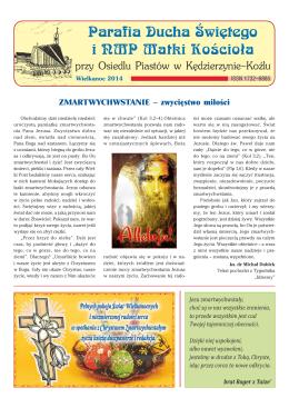 Wielkanoc 2014 - Parafia pw Ducha Świętego i NMP Matki Kościoła