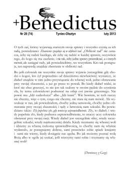 Nr 28 (74) Tyniec-Olsztyn luty 2013 O tych zaś, którzy wyjawiają