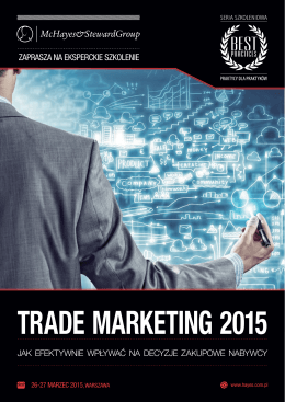 TRADE MARKETING 2015 - McHayes&StewardGroup