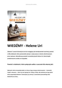 WIEDŹMY - Helene Uri