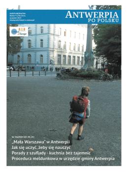 nr 40-wrzesien 2014 - Antwerpia po polsku