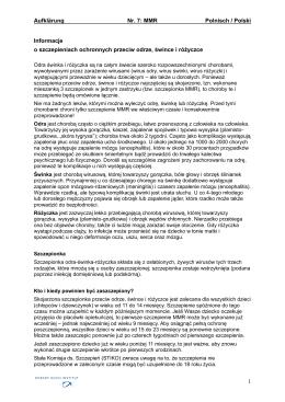 Aufklärung Nr. 7: MMR Polnisch / Polski 1 Informacje o