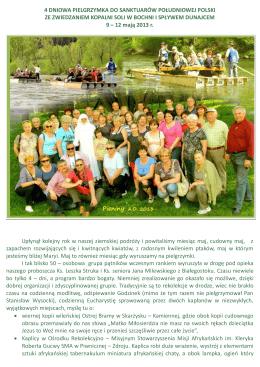 Wspomnienia z wyprawy Szlakiem Sanktuariów Polski Południowej