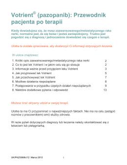 Votrient (pazopanib): Przewodnik pacjenta po terapii