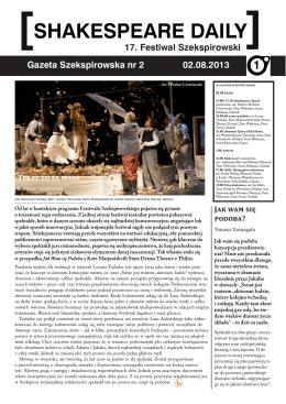 shakespeare daily - Festiwal Szekspirowski