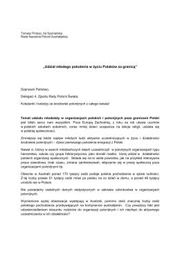 Referat_T-Prokop RNPA - Zjazd Polonii Świata