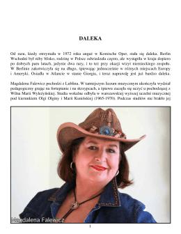 Magdalena Falewicz – DALEKA