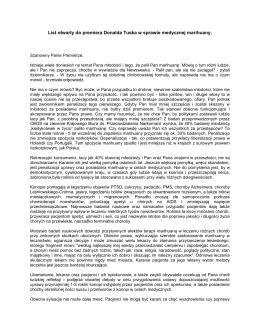 List otwarty do premiera Donalda Tuska w sprawie medycznej