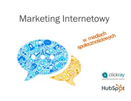 Marketing Internetowy w Mediach Spolecznosciowych