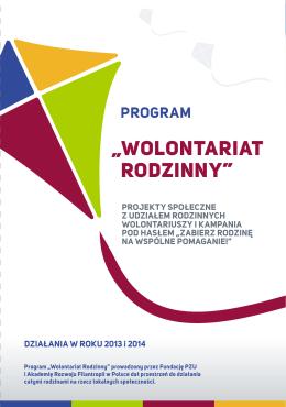 Wolontariat Rodzinny I edycja 2014 (PDF)