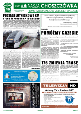 PoMóżMy gazecie - Stowarzyszenie Nasza CHOSZCZÓWKA Pismo