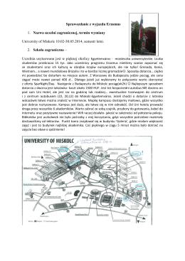 Sprawozdania 2013-2014_Węgry_sprawozdanie z wyjazdu