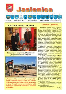 Styczeń 2012 - Gmina Jasienica