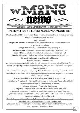 Gazetka MONOwMANU 2011 nr 4