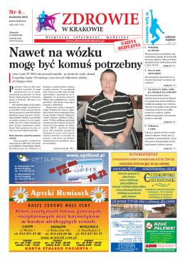 Nawet na wózku - Zdrowie w Krakowie