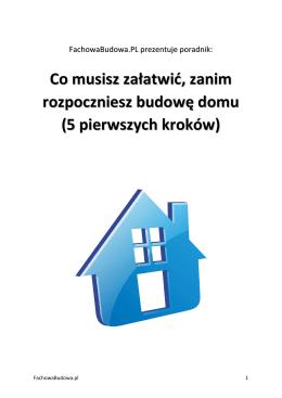Co musisz załatwić przed budową domu
